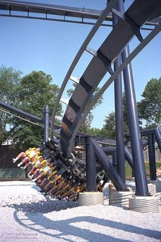 Batman The Ride, Six Flags worth the wait for the front row seat! Best Roller Coasters, New Roller Coaster, Cool Coasters, Fun Places To Go, Places To Travel, Amusement Park Rides, Gatlinburg Tennessee, Six Flags, To Infinity And Beyond