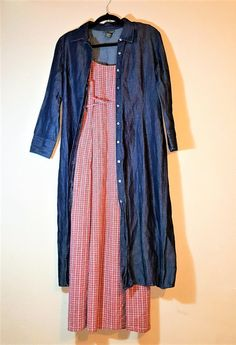 dac3c171e54 Banana Republic Button Down Long Denim Dress Size 8- Trench Denim Dress