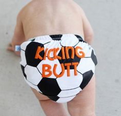 "Soccer Baby Bloomers - I'm a little annoyed that the website says they're ""for boys"". Let me guarantee that if I had a little girl, she'd wear them too."