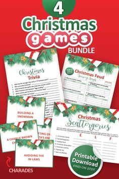 Christmas Family Feud, Christmas Trivia, Christmas Snowman, Interactive Christmas Games, Printable Christmas Games, Baby Shower Printables, Party Printables, Holiday Games, Printable Designs