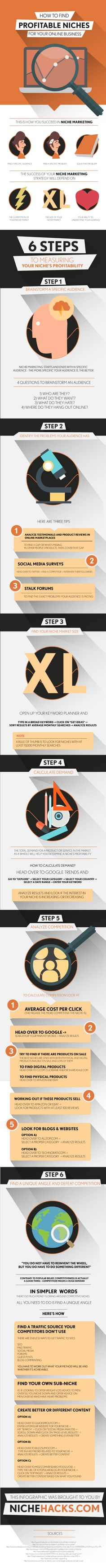 What Are 6 Steps To Finding Profitable Niches For Your Online Business? #infographic