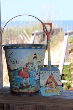Vintage Sand Pail And Shovel