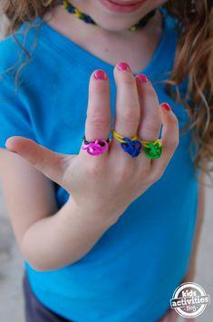 DIY Rubber Band Rings http://kidsactivitiesblog.com/50778/diy-rubber-band-rings