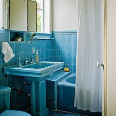 I Love Colorful Bathrooms With Original Fixtures