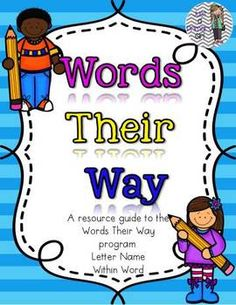 Words Their Way Guide Letter Name and Within Word Sorts  On sale for half off!