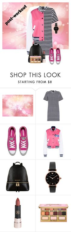 """""""Post workout"""" by dashiell32309 on Polyvore featuring T By Alexander Wang, Converse, Love Moschino, Michael Kors, Emporio Armani and Kandee"""