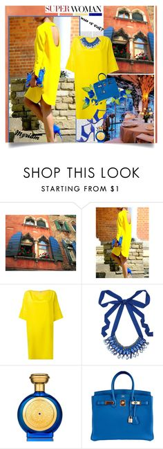 """""""WHO IS SHE ?"""" by lovemeforthelife-myriam ❤ liked on Polyvore featuring Oris, WithChic, Le Sirenuse, Chantal, P.A.R.O.S.H., Nocturne, Boadicea the Victorious, Hermès and Jaggar"""