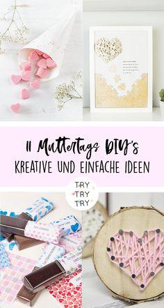 11 liebevolle Muttertags DIY's / Muttertagsgeschenk / DIY Geschenkideen / Mom, Mama oder Lieblingsmama / #mama #muttertag #muttertagsgeschenk