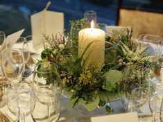 Bridal Table, Wedding Table Flowers, Wedding Table Settings, Flower Decorations, Wedding Decorations, Table Decorations, Plantas Bonsai, Blue And Purple Flowers, Wedding Notes