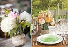 rustic vintage wedding table centres - Google Search