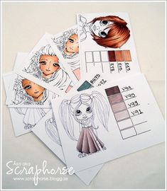 Copic color charts - This is a great help with organizing your copics.  Be sure to open and save a copy to use.  Thank you so much Scraphorse.blog