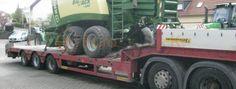 Internationale Landmaschinentransport einer KRONE Großpackenpresse BigPack 890 XC von Deutschland nach Russland per Spezialtransport