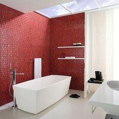 12 banheiros vermelhos para você se inspirar