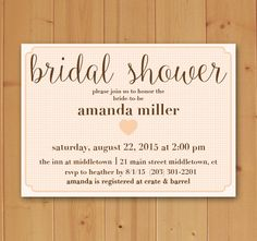 Bridal Shower Invitation by JMCustomInvites on Etsy