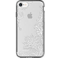 Til+iPhone+7+iPhone+7+Plus+Etuier+Ultratyndt+Transparent+Mønster+Bagcover+Etui+Blonde+Tryk+Blødt+TPU+for+Apple+iPhone+7+Plus+iPhone+7+–+DKK+kr.+26
