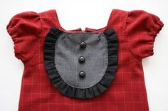 Puffed sleeve tutorial-I just like the bib idea-I always like these!