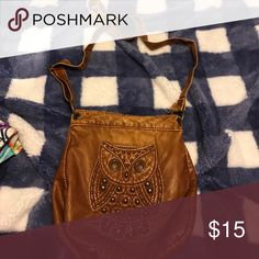 Owl Purse Leather owl purse!! Super cute!! I used it a lot and it still looks new!! I'm moving and trying to get rid of the things I don't use or wear anymore!! Claire's Bags Shoulder Bags