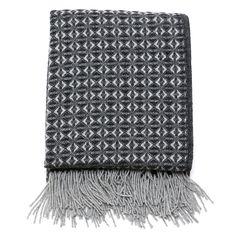 British Made Cobweave Wool Throw Charcoal - The Future Kept - 1