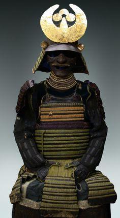 Armadura samurai de Munehisa Saku con yelmo de Myochin - Periodo Tenmon - 1532
