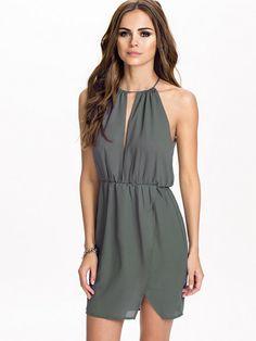Satin Open Back Dress - Nly Trend - Mörk Grå - Festklänningar - Kläder - Kvinna - Nelly.com