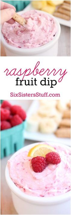 Dip This simple raspberry fruit dip is the perfect summer treat - it's great for parties, BBQs, or days by the pool.This simple raspberry fruit dip is the perfect summer treat - it's great for parties, BBQs, or days by the pool. Fruit Recipes, Dip Recipes, Snack Recipes, Dessert Recipes, Fruit Dips, Fruit Platters, Dips Food, Fruit Appetizers, Fruit Kabobs