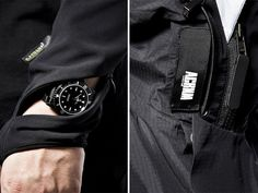 Acronym jackets. Curved watch zipper, removable velcro labels and much, much more.