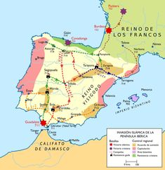 Maps of Spain European Map, European History, World History, Art History, Historical Artifacts, Historical Maps, Historical Pictures, Geography Map, Human Geography