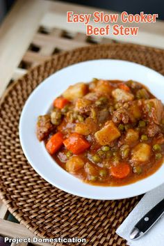 Project Domestication: Easy Slow Cooker Beef Stew