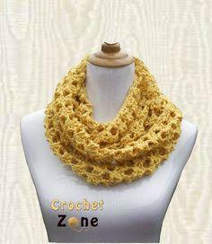 Butterscotch Cowl by CrochetZone.com #crochet #freepatterns #crochetzone