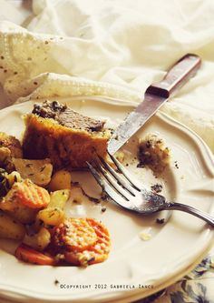 Beef Wellington with Rosemary Sweet Potatoes  and Buttery Vegetables