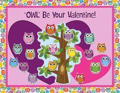 Owl Themed Valentine's Day Bulletin Board Idea