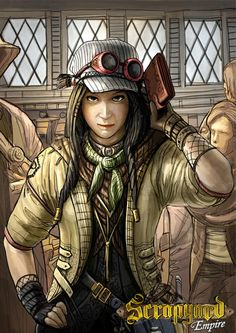 Penny Valentine will steal your heart and all your worldly possessions! Let her character win you glory in the new strategic card game, Scrapyard Empire. Get a copy here - http://www.scrapyardempire.com #steampunkgoggles #steampunkart #steampunkgirls