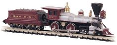 This is a Baltimore & Ohio American Steam Engine & Tender from Bachmann. N Scale Model Trains, Scale Models, Standard Gauge, Thing 1, Layout, Rolling Stock, Steam Locomotive, Ho Scale