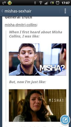 Tumblr gets our fascination with Misha Collins