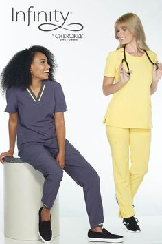 Are these not stunning? You give high-end service, so you deserve high-end scrubs...without the high-end $$$. SAVE 20% today thru 2/17!!! Cherokee Uniforms, Cherokee Scrubs, Peplum Dress, Infinity, Dresses, Fashion, Vestidos, Moda, Infinite