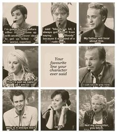 Harry Potter's cast choose their favorite lines their characters said.