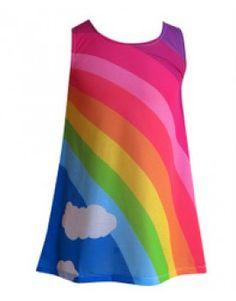 Deezo Kids Dress - Rainbow