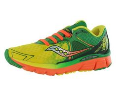Saucony Kinvara 6 Womens Running Shoes Size US 95 Regular Width Color YellowGreenOrange * More info could be found at the image url.