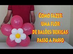 Image result for decorações com balões passo a passo Sculpture Ballon, Ballon Arch, Ballon Decorations, Balloon Flowers, Milkshake, Ladybug, Hello Kitty, Ideas, Cakes