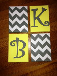 Canvas chevron wall art... For my new house