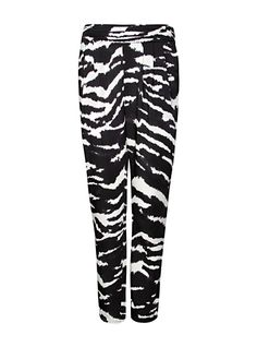 Zebra print trousers for inverted triangle or wedge body shape
