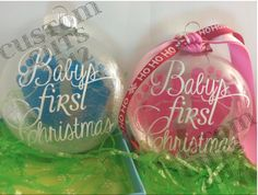 Floating ornament Template Cricut Best Of Keepsake Floating ornament Printing On Transparencies My Paper Clear Christmas Ornaments, Vinyl Ornaments, Baby First Christmas Ornament, Baby Ornaments, Ornament Crafts, Babies First Christmas, Christmas Bulbs, Christmas Decorations, Glitter Ornaments