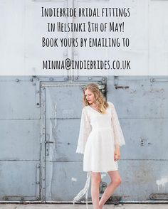 Hello Helsinki brides! @minna_hepburn  and @indiebridelondon  are coming to Helsinki for bridal fittings on May 8th. We still have few slots left. Next opportunity will be in October at @lovemedo2016 . Still not too late to get a dress for summer wedding  #indiebride #indiebrides #indiebrideslondon #bohobride #greenwedding #alternativewedding #bohemianbrides