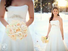 winter wedding, hydrangea bouquet, garden rose bouquet, peony bouquet, simple bouquet, neutral bouquet Blog - Elario Photography