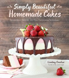 Cookbook: Simply Beautiful Homemade Cakes by Lindsay Conchar of Life, Love and Sugar. To celebrate the fact that this cookbook is just over 2 MONTHS away from being released and that you can pre-order it, I've got a giveaway for you! Let's get this party started! There will be another giveaway coming, but this time around I've got all kinds of baking supplies for you.