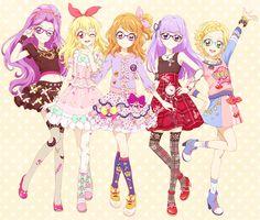 ✮ ANIME ART ✮ clothes. . .cute fashion. . .friends. . .colorful. . .gothic. . .fairy kei. . .colorful hair. . .cute. . .kawaii