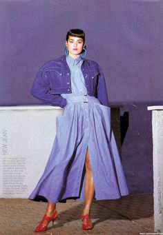 1985 - Yasmin Lebon in Thierry Mugler by Marc Hispard for Depeche Mode, shoes Thierry Mugler by Linea Lidia,