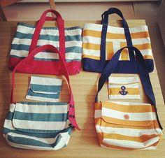 幼稚園バッグ Bag Patterns To Sew, Sewing Patterns, Pouch, Wallet, Fabric Bags, Handmade Bags, Jute, Messenger Bag, Tote Bag