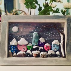 #gifts #art #stonepainting #pebbleart #pebblepainting #taşboyama #painting #rockpainting #stonepainting #happynewyear #manzara #hanmade