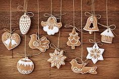 Biscuits in Design of Christmas Items, All Seem Delighted and Happy, Mood is Happy Enough – Creative Christmas Wallpaper Hanging Christmas Tree, Christmas Items, Christmas Tree Decorations, Christmas Tree Ornaments, Christmas Diy, Merry Christmas, Vegan Christmas, Swedish Christmas, Clay Ornaments